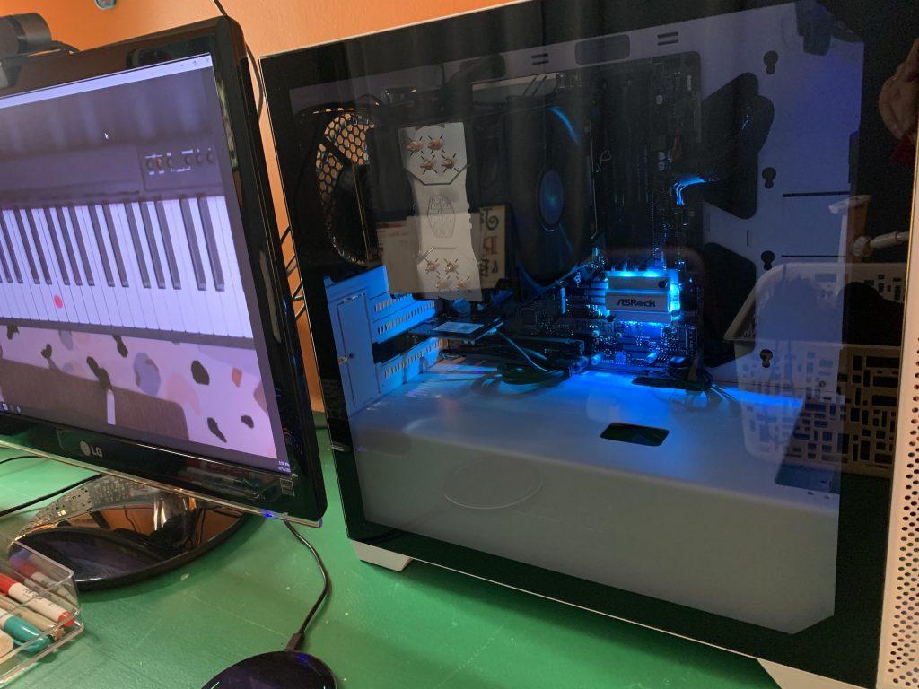 CPU and computer monitor
